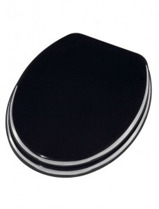 schwarzer Ascoli WC Sitz
