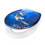 Vögel Segelturn Style Toilette blau