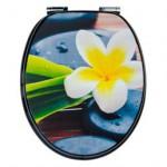 Super Auflösung Blume auf WC Sitz