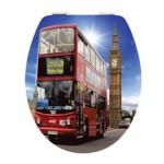 London Bus mit Big Ben Style Toilettensitz