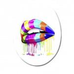 Mund küssen farbig style toilettendesign