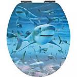 WC SItz mit Hai Muster