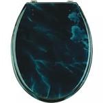 dunkel-blauer WC Sitz