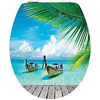 WC Deckel Design Karibik Style