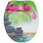 WC SItz chillig mit Steine und Blüten