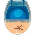 Muscheln , tiefe blaue See WC Sitz